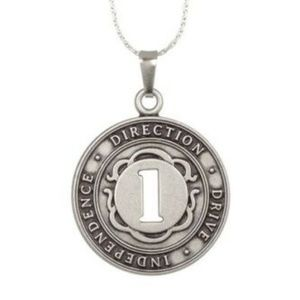 Numerology Number 1 Silvertone Necklace